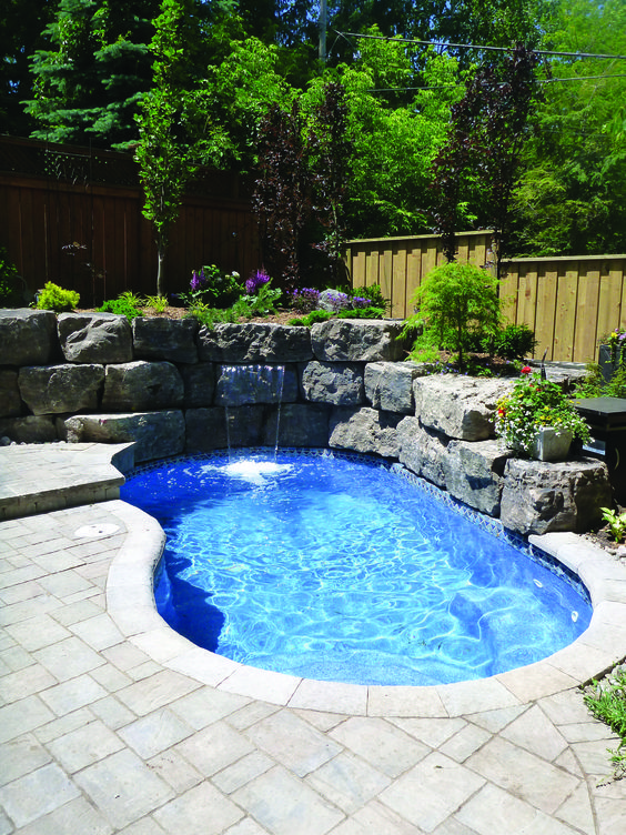 Small Inground Pool 25 Admirable Ideas For A Narrow Backyard Recipegood Small Inground Pool Backyard Pool Landscaping Small Pool Design