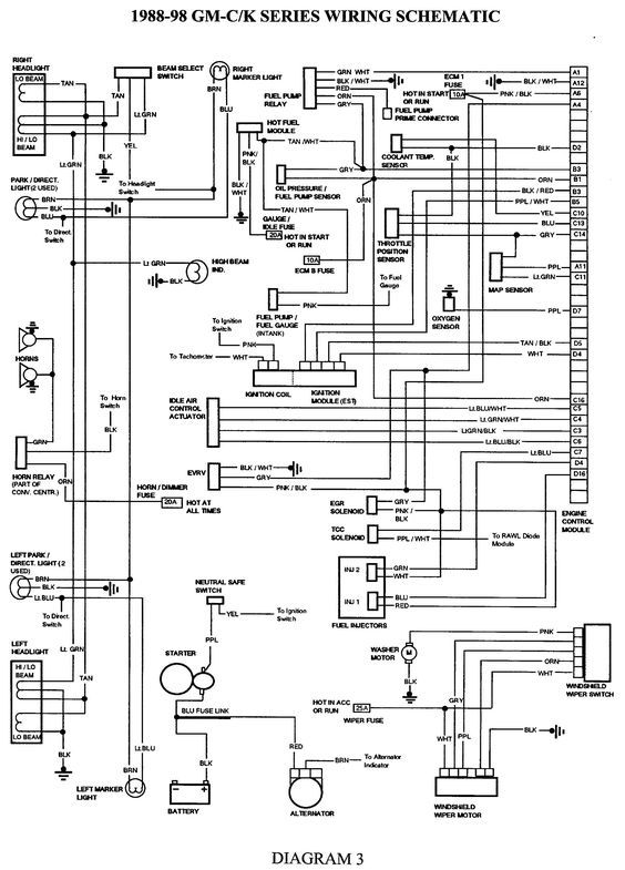 Wiring Diagram For 1989 Chevy Truck Wiring Diagram