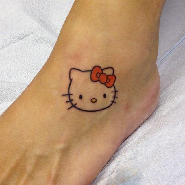New Tattoo On My Foot Hello Kitty Tattoos Cute Small Tattoos Tattoo Designs For Girls