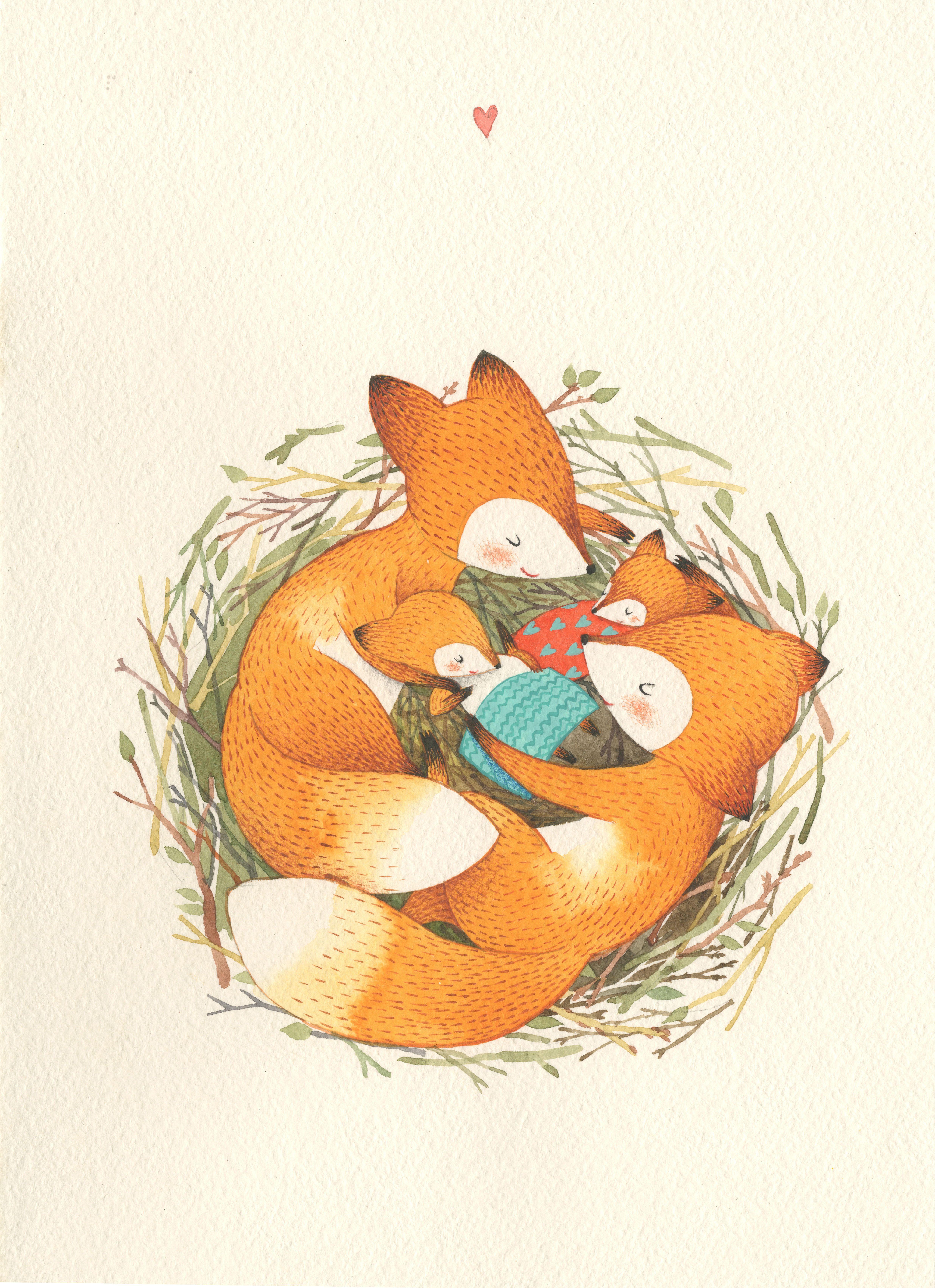 Открытки лис