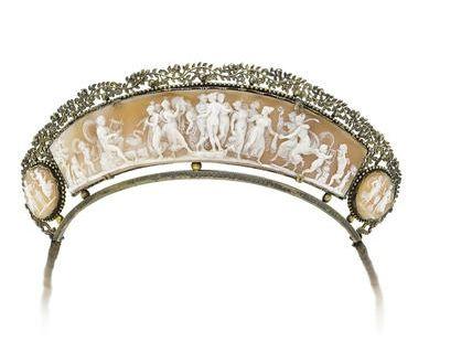 A shell cameo diadem, circa 1820-30