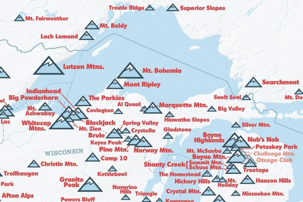 Canada Skiing Resorts Map North America Ski Resorts Map 24x36 Poster | Ski resort, Canada