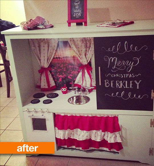 Entertainment Center Kitchen Set: Before & After: Entertainment Center Turned Play Kitchen