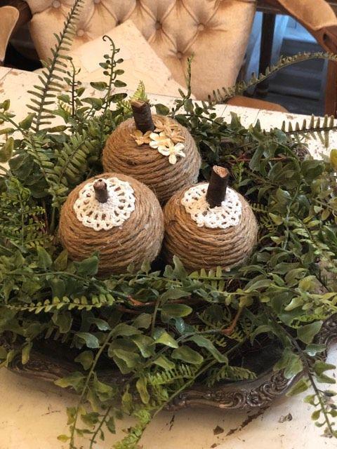 Diy Twine Pumpkins - The Shabby Tree