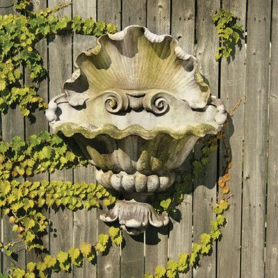 Cast Stone Wall Planter With Images Garden Wall Planter Garden Wall Decor Wall Planter
