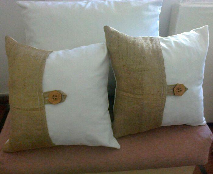 Cortinas de arpillera buscar con google cuscini for Cortinas de tela de saco