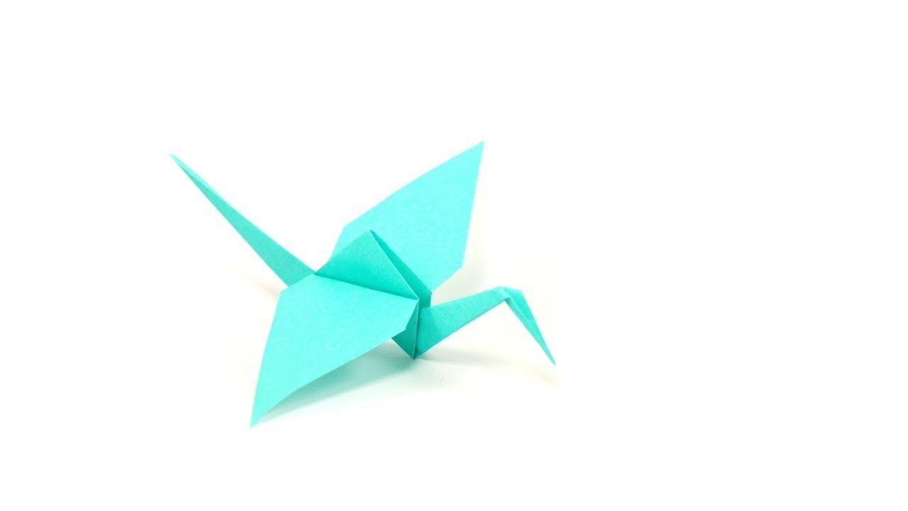 diy origami grue by fraises au sucre origami. Black Bedroom Furniture Sets. Home Design Ideas