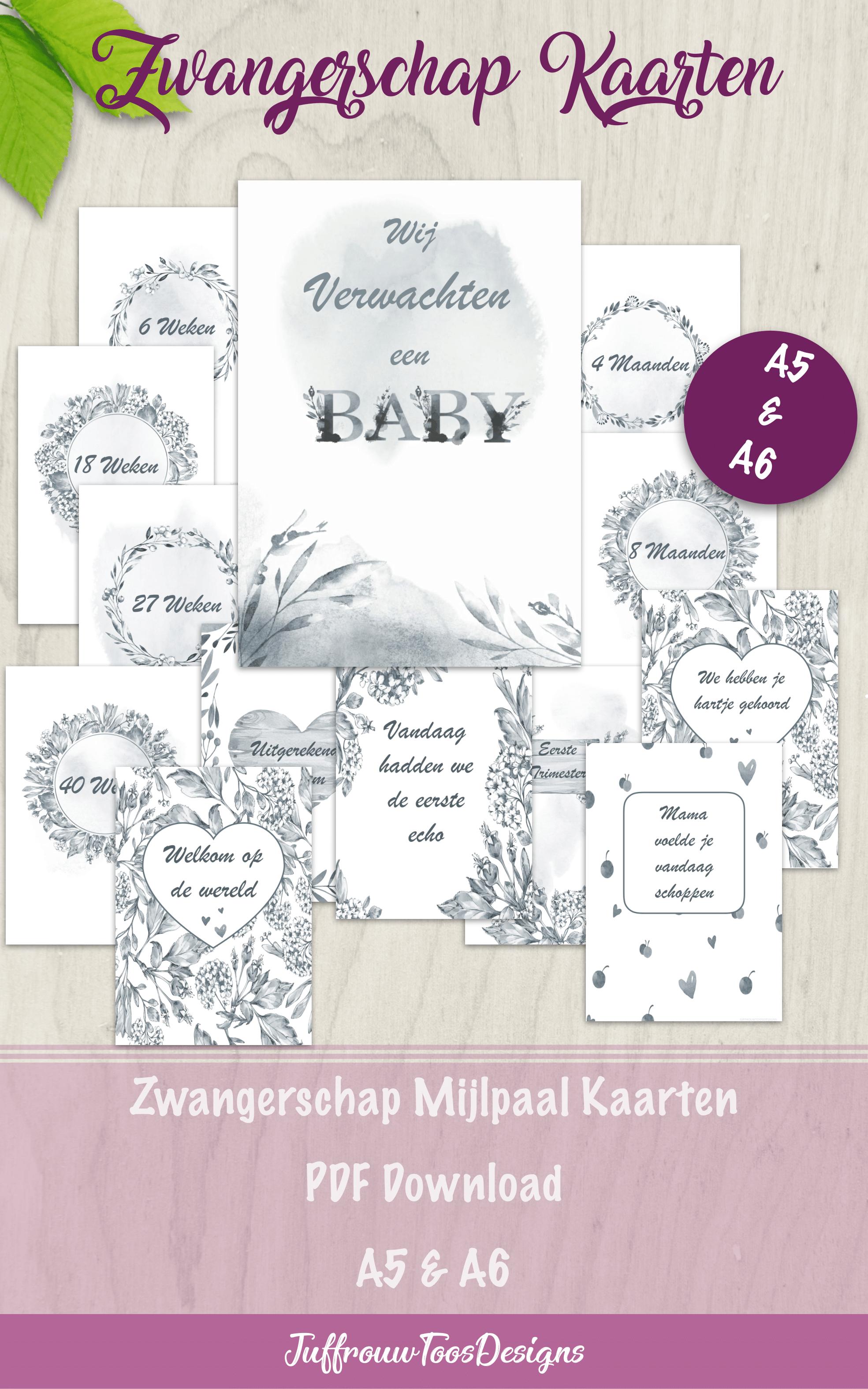 Printable Chalkboard Pregnancy Milestone Cards Pregnant