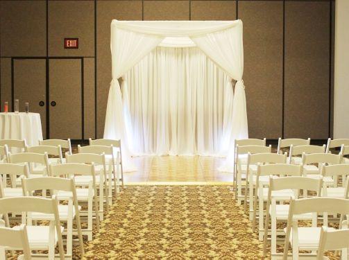 Chicago Wedding Ceremony Decoration Black Blue Brown Cchicago Backdrop Chuppah Decoation