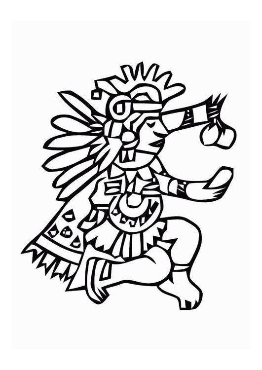 Dibujo Para Colorear Aztecas Aztecas Dibujos Dibujos Prehispanicos Aztecas