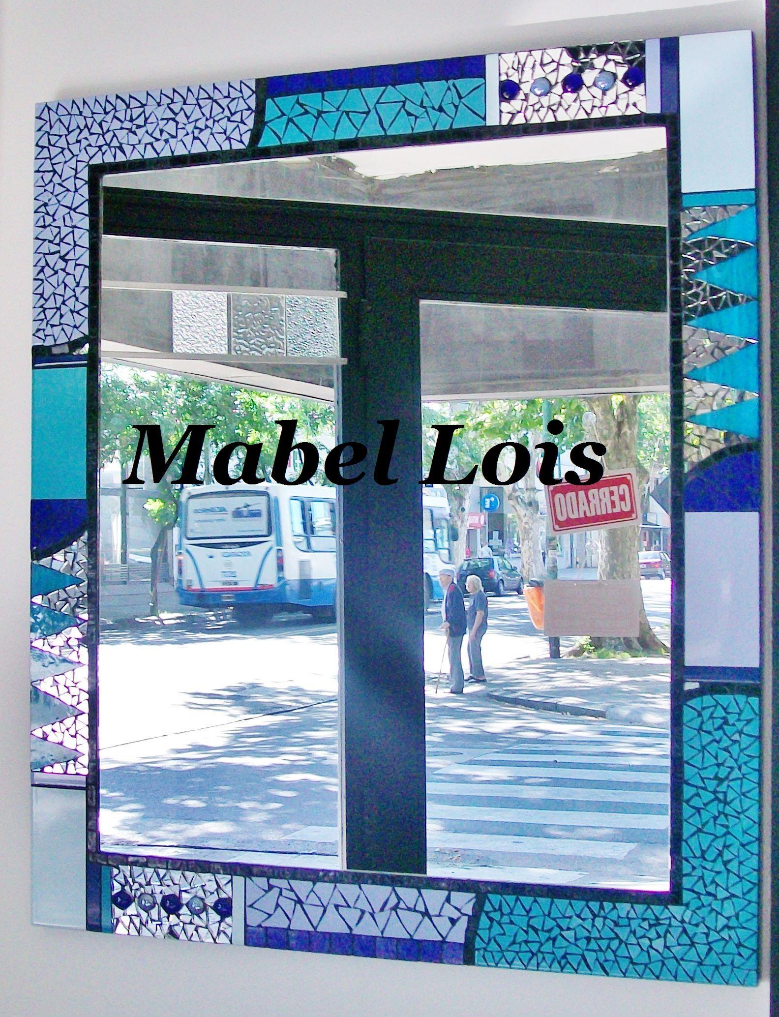Espejo de dise o en mosaico artistico para ba o espejos for Mosaicos para espejos