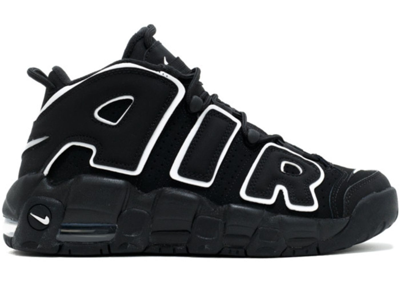 Air More Uptempo Black White 2016 (GS) in 2020 | Nike air
