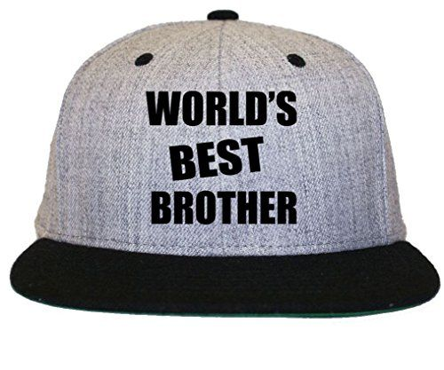 World s Best Brother Flat Bill Snapback Hat Cap 19cc26ac311