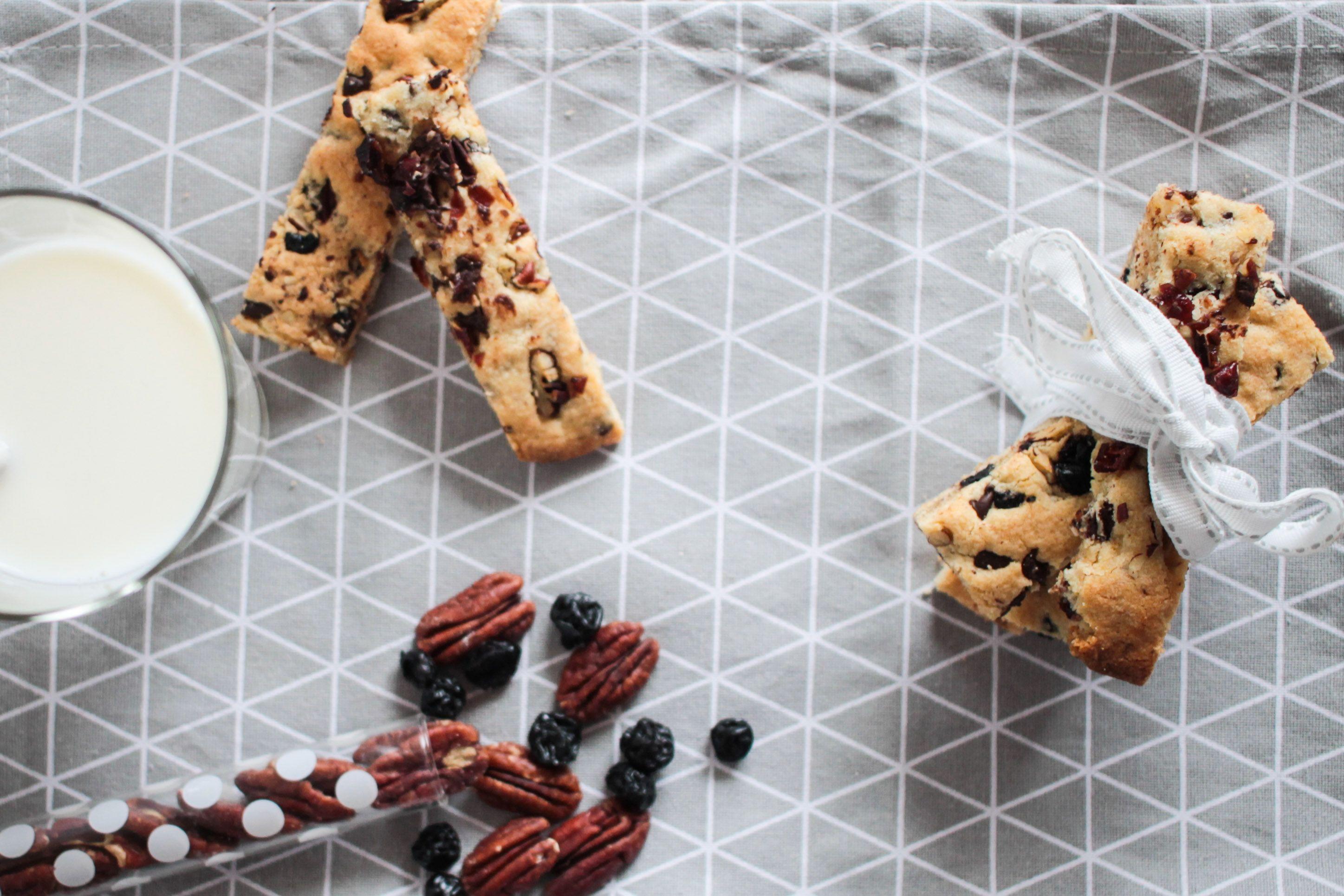 Cookie sticks noix de pécan chocolat cranberries/myrtilles