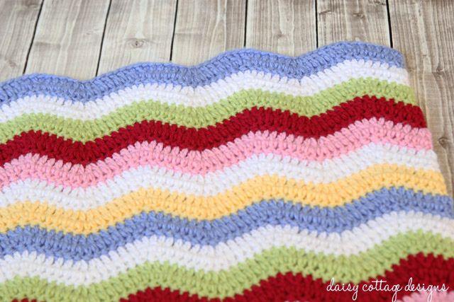 Baby Blanket Crochet Pattern {Rainbow Chevron Blanket | Bebé, Tejido ...