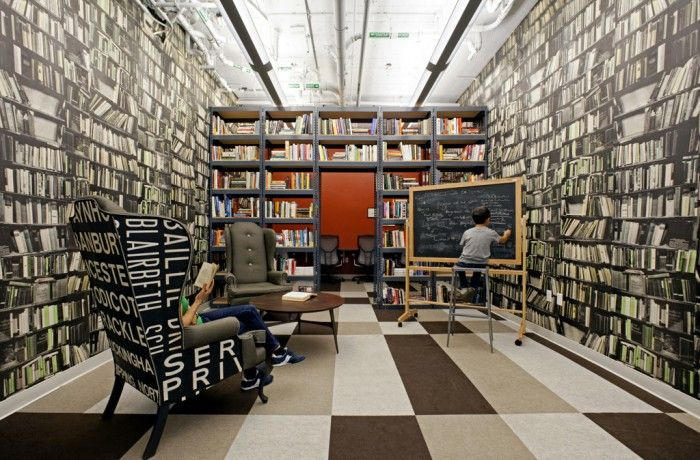 Great library from Quid's office in San Francisco
