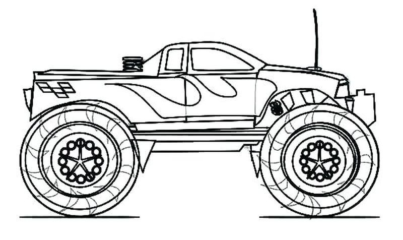 Grave Digger Monster Truck Coloring Pages Monster Truck Coloring
