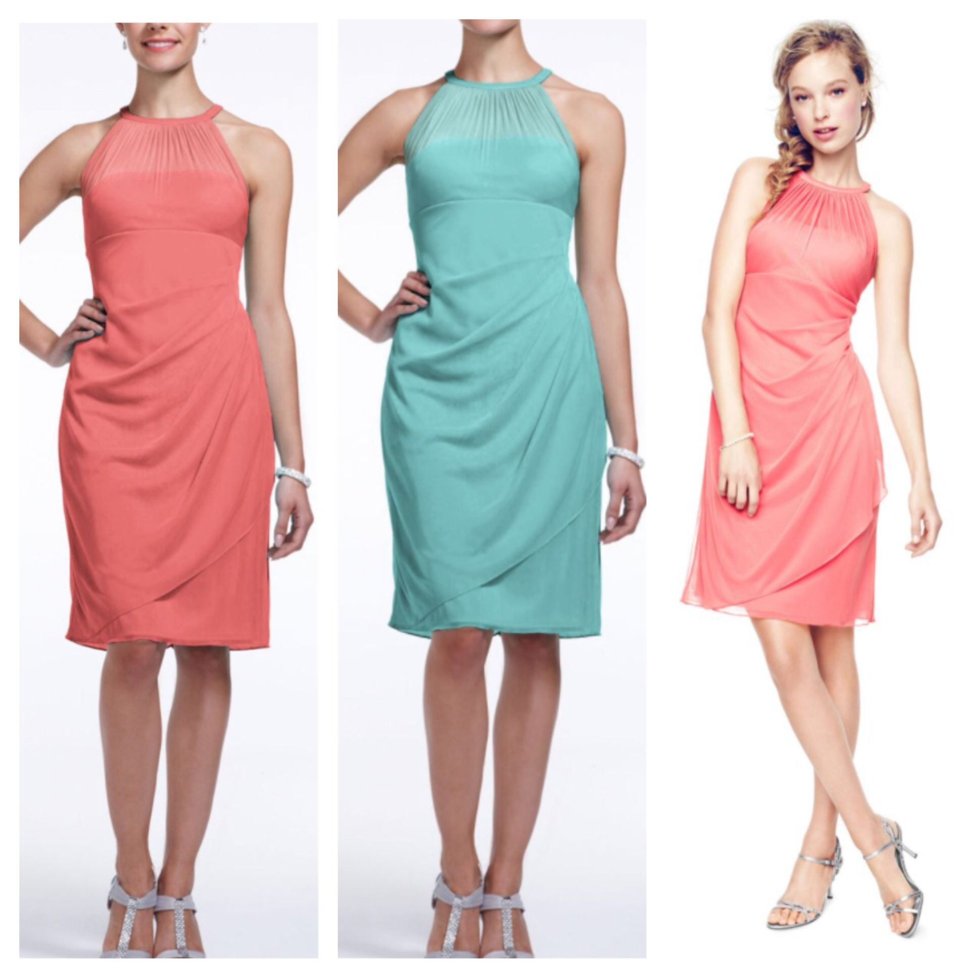 Wedding colors coral reef and spa blue maid of honor will be wearing ...