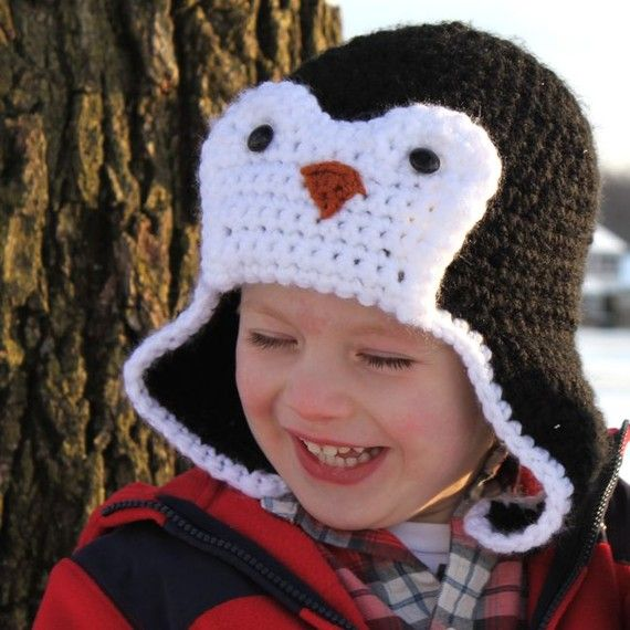 Penguin Hat Crochet Pattern Bomber Style Permission To Sell