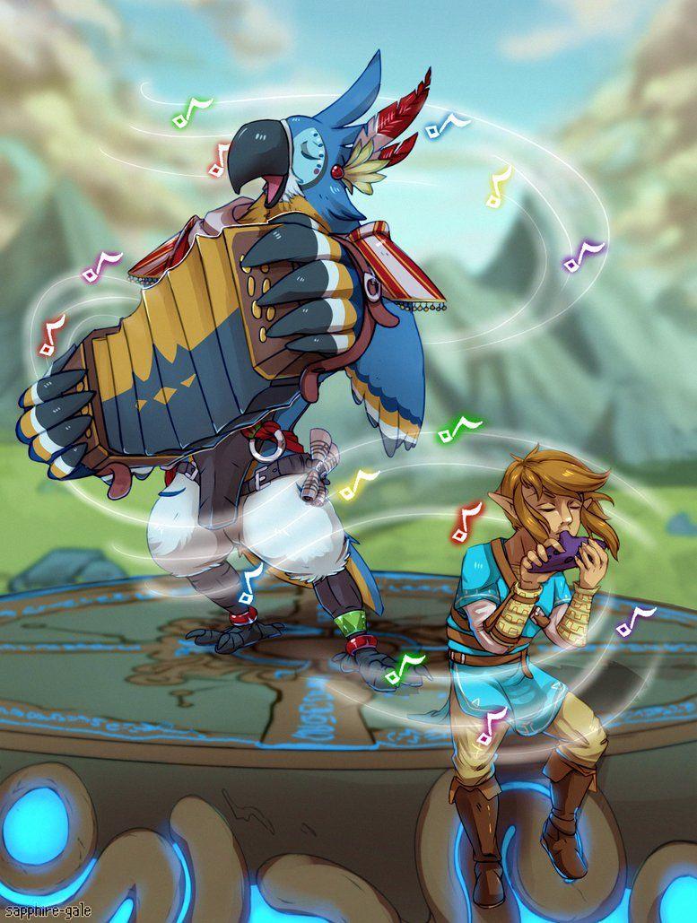 Legend of Zelda Breath of the Wild art > Rito Kass and