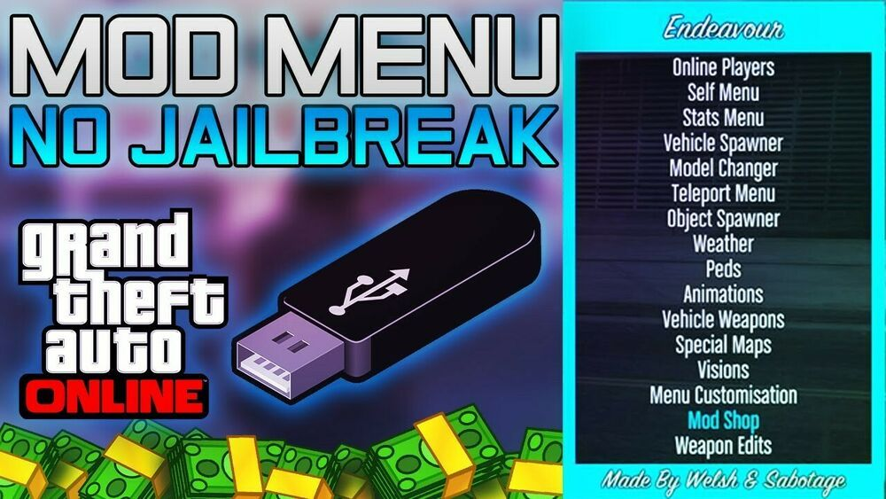 ◇GTA 5/FORTNITE USB MOD MENU◇ Xbox one/360◇ Ps3/4