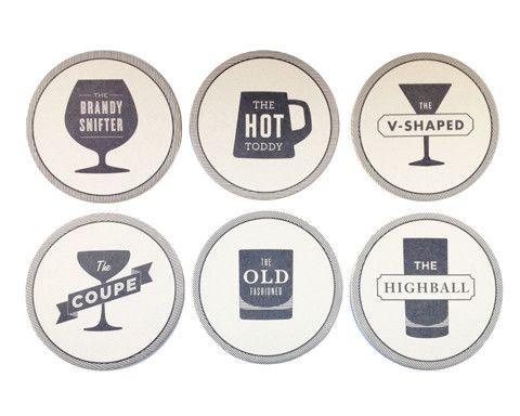 Cocktail Recipe Coasters