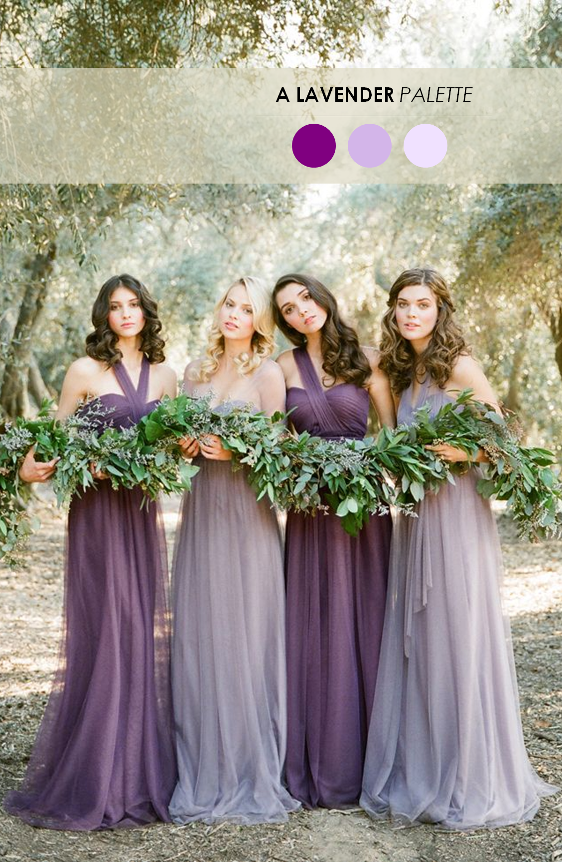 Lilac Bridesmaid Dresses | 18 Fall Wedding Color Palettes The Ultimate Guide Inspiration