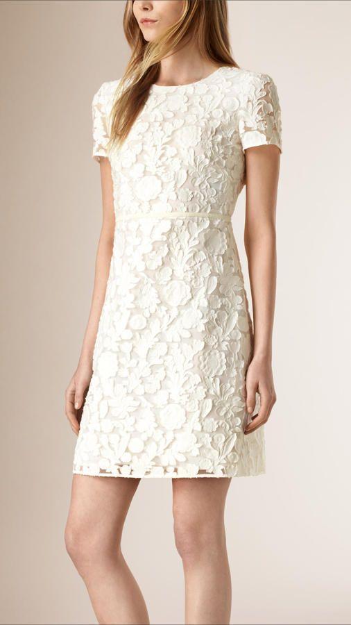 Burberry Fil Coupé Cotton Silk Shift Dress   Fashion likes ... 0e05507f2884