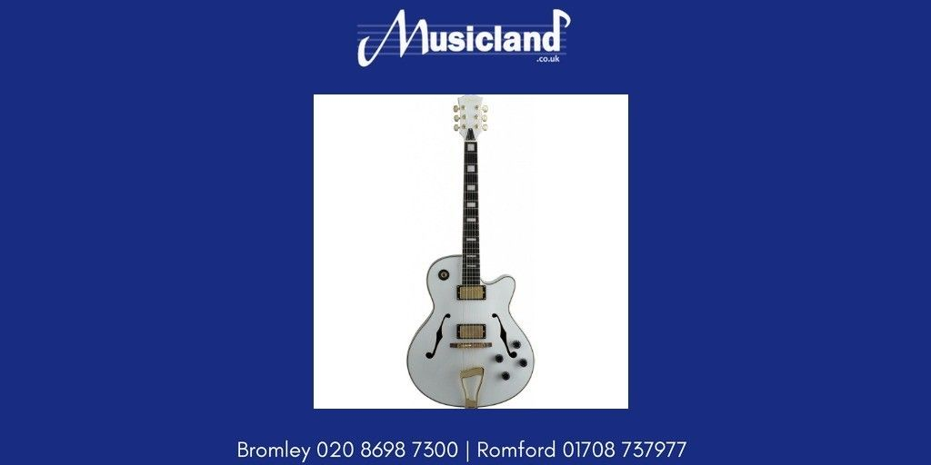 """Stagg """"Jazz"""" electric guitar Semiacoustic model A300WH"""