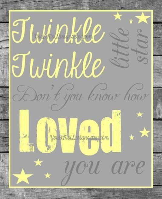 Twinkle Twinkle Little Star 8 x 10 Nursery Print - Nursery Wall Art ...