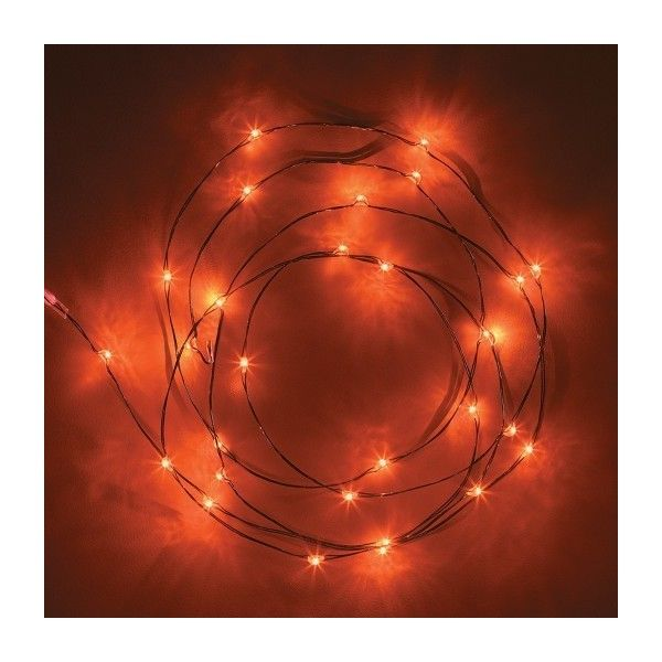 Philips® 30ct Halloween Battery Operated LED Dewdrop Lights - Orange