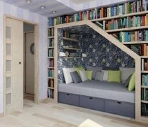 """A great place to curl up and read a book like """"The Hidey Hole"""" by Geri Ellzey Craig"""