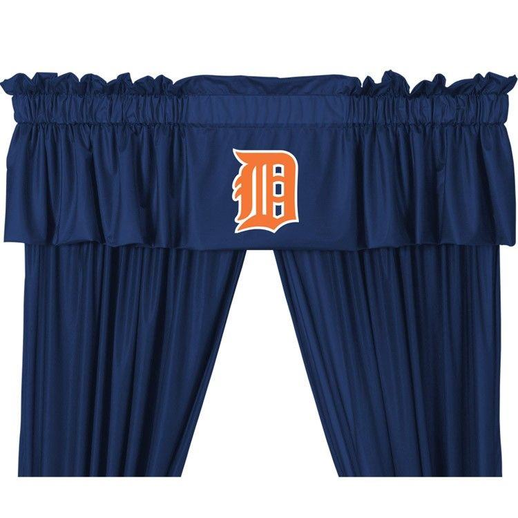 Detroit Tigers Mlb Window Valance 63in Or 84in Drapes Curtains