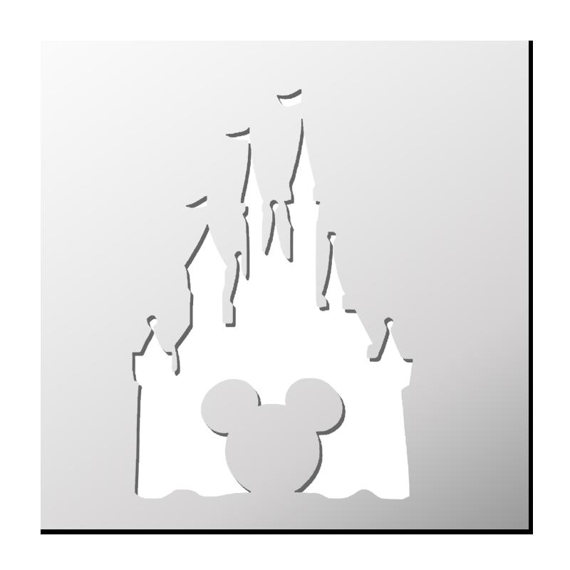 Fantasy Castle Pochoir Réutilisable PP Sheet for Arts /& Crafts À faire soi-même