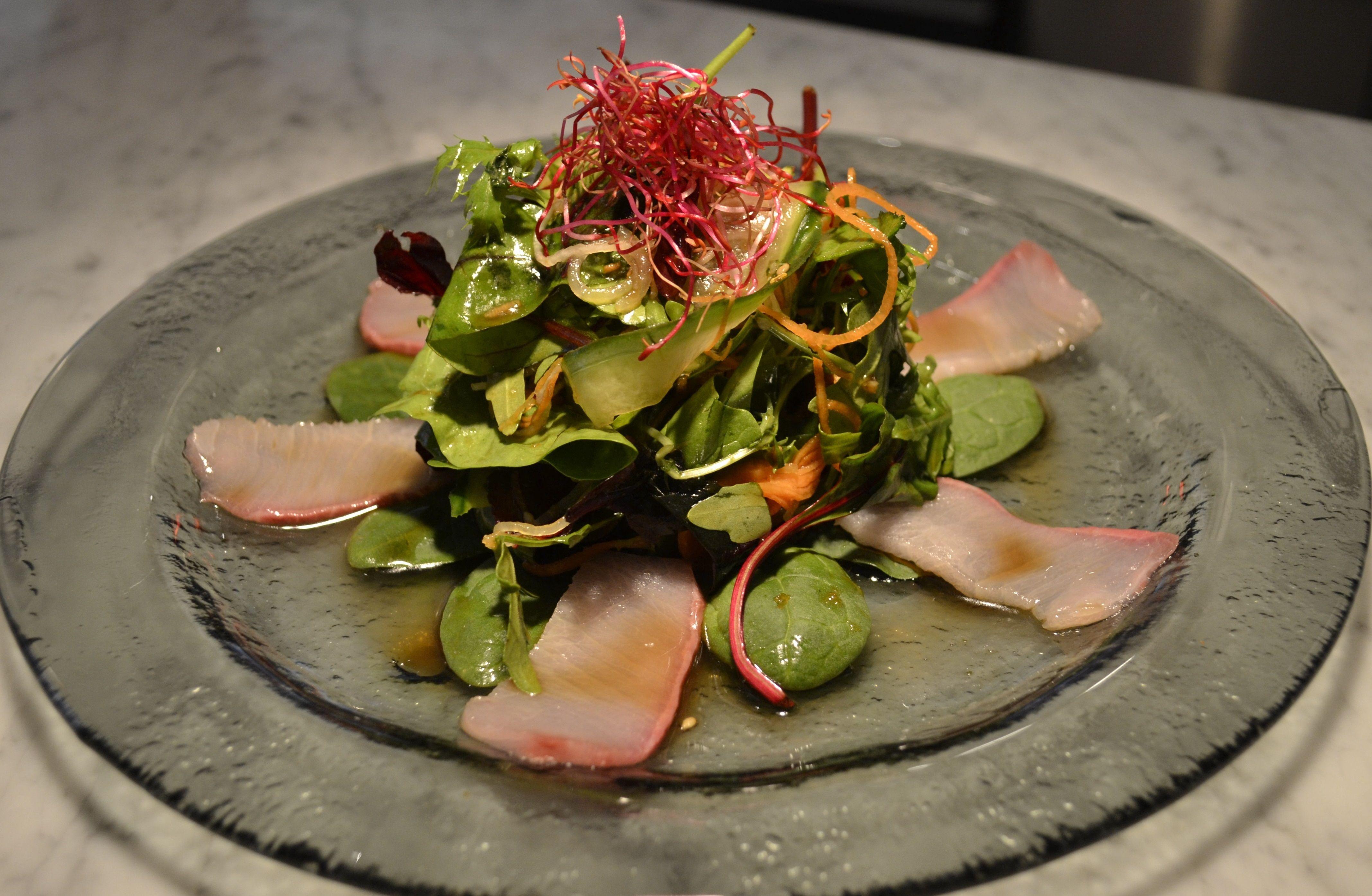 yellowtail sashimi with serrano peppers - HD4270×2789