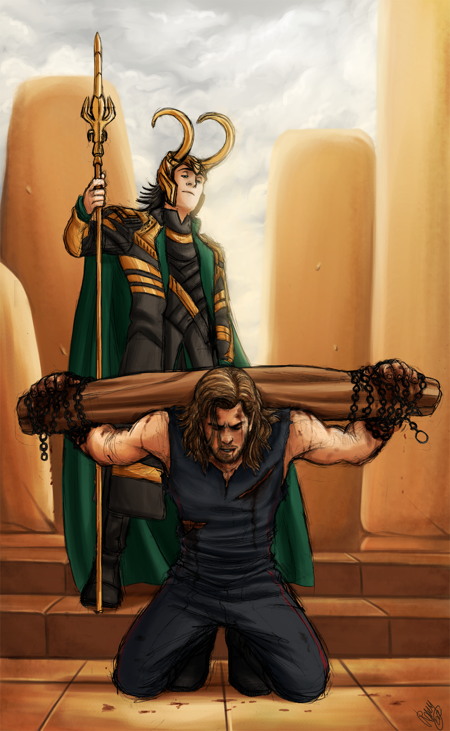 Thor and Loki - Blood Brothers by ~Renny08 on deviantART ...