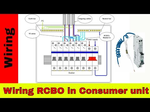 shed consumer unit wiring diagram lovely cub cadet 1045 how to wire rcbo electrical video tutorials in 2019