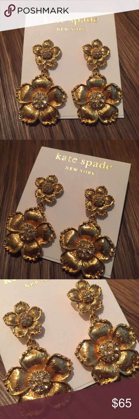 Kate Spade Gold Floral Earrings Ever Worn - Brand New kate spade Jewelry Earrings