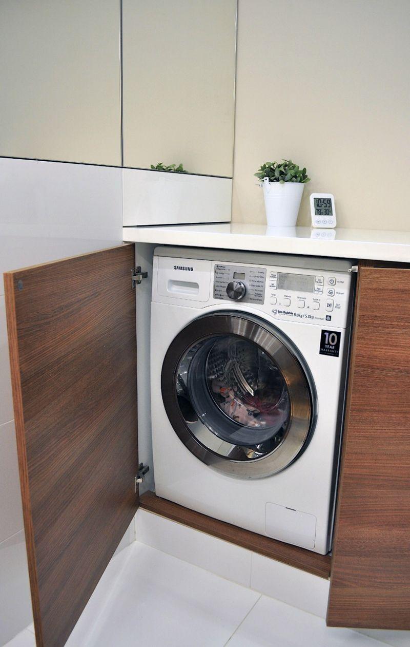 Minimalistyczny Apartament W Lodzi Washing Machine Home Appliances Laundry Machine