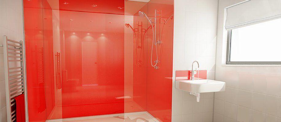Forget Tiles Were Using Mermaidpanels Or Aquaboard Baños - Aquaboard shower panels