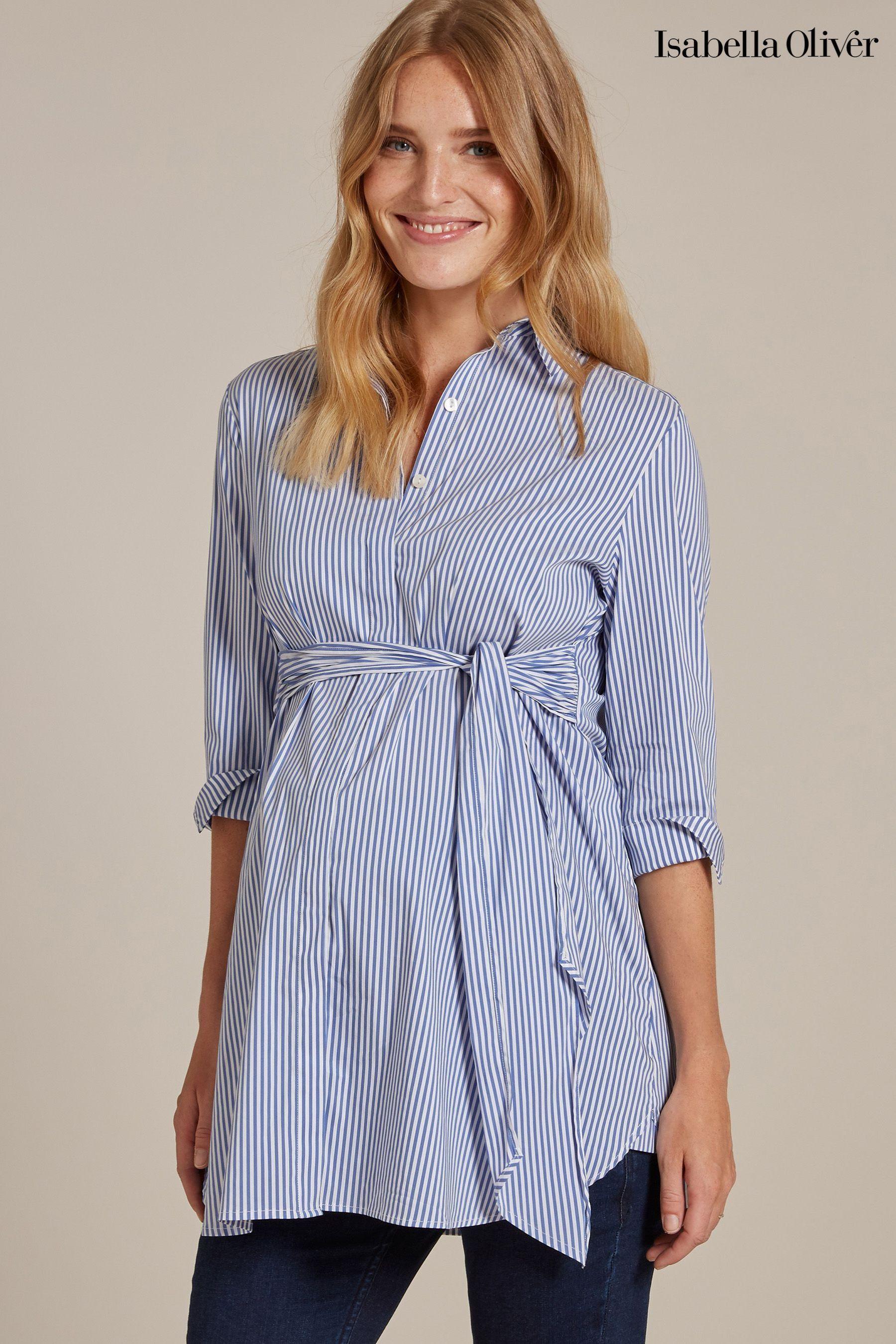 d34af2e3fff99 Womens Isabella Oliver Dora Maternity Shirt - Blue | Pregnancy ...