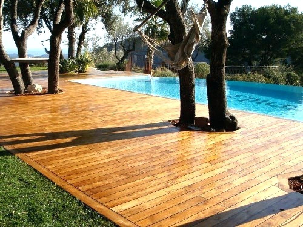 Ground Level Deck Design Ideas Deck Designs Backyard Wooden Pool Deck Decks Around Pools