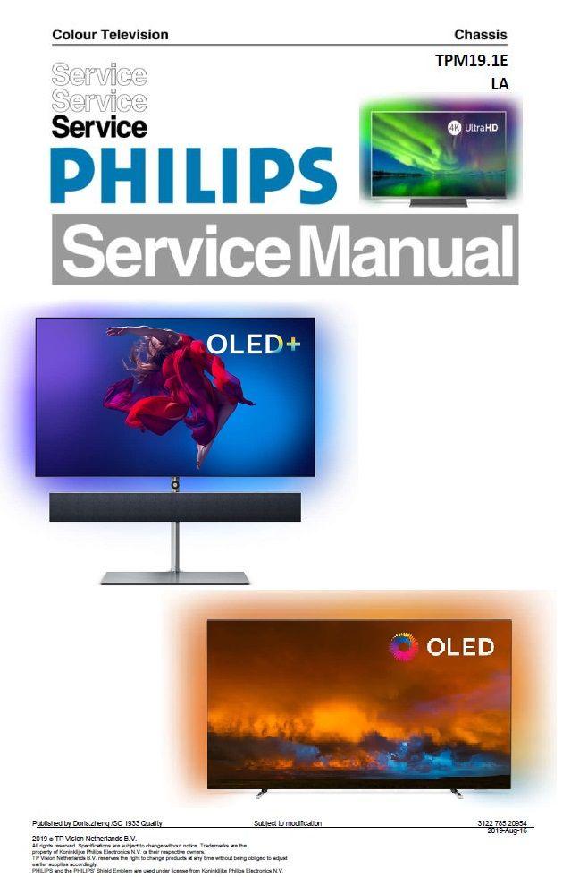 Philips 65oled984 65oled934 65oled854 65oled804 Oled Tv Service Manual Tv Services Philips Oled Tv