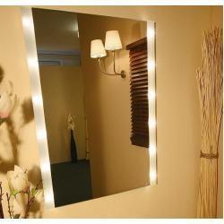 #Wohnaccessoires Miroir en cristal Top Light BrightLight avec émission de lumi…