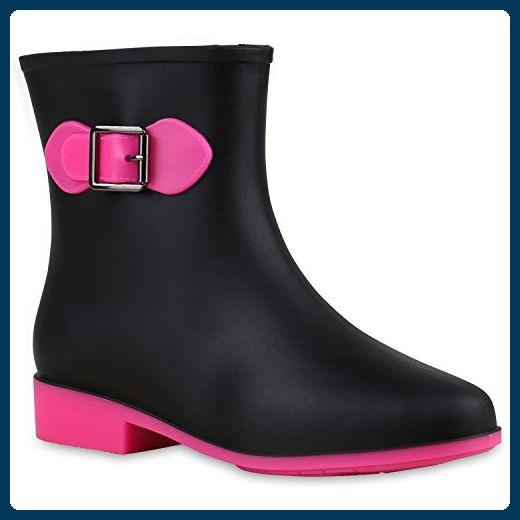 low priced b16c1 83bf5 Damen Gummistiefel Wasserdichte Stiefel Regen Lack ...