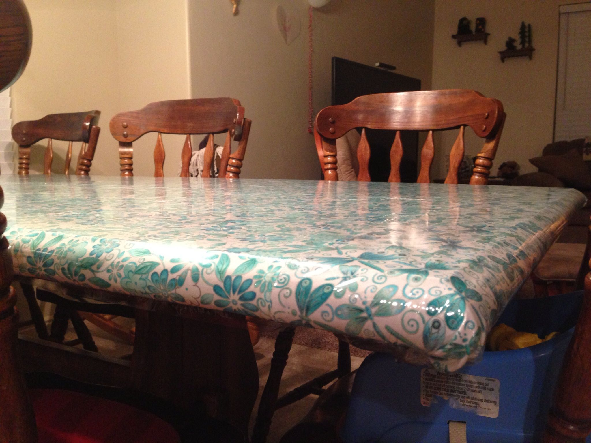 To protect your table from kids and keep your table cloth