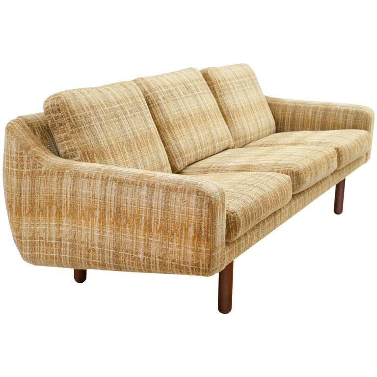 Scandinavian Modern Low Profile Sofa With Teak Legs 1stdibs Com