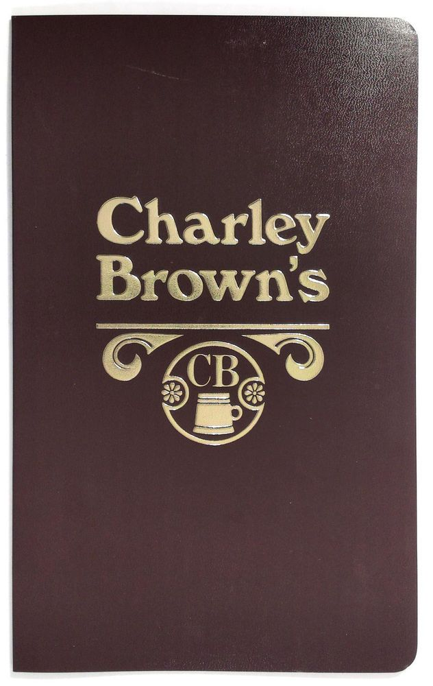 Details about 1980's Vintage Take-Out Menu CB CHARLEY BROWN'S