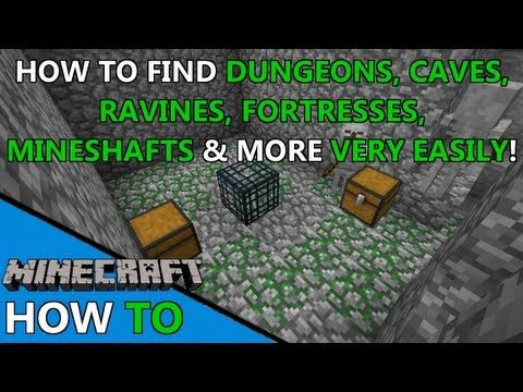 How To Find DUNGEONS In SECONDS Minecraft Tutorial - Spiele in minecraft bauen
