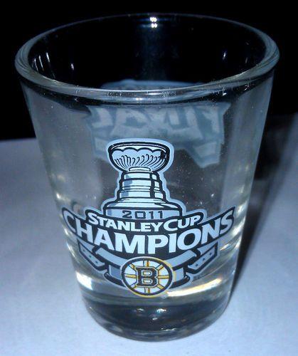 Boston Bruins Hockey Stanley Cup Shot Glass Souvenir Team Edition New 2011 | eBay